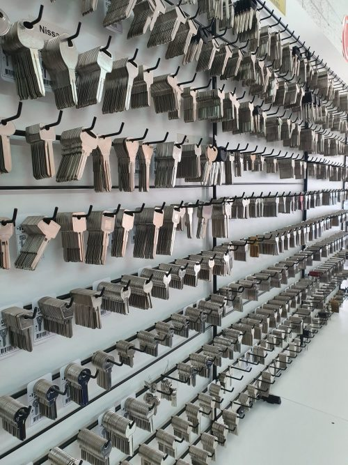 a large amount of keys hanging on a keyboard